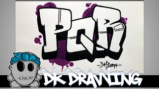 getlinkyoutube.com-How to draw graffiti - Graffiti Letters PQR step by step