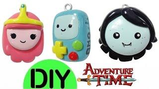 getlinkyoutube.com-DIY Princess Bubblegum, Marceline & BMO Kawaii Polymer Clay Charms