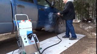 getlinkyoutube.com-Dry CAR WASH & Auto Detailing #1 - 145 PSI Commercial Vapor Steam Cleaner Vapor Rino Rhino