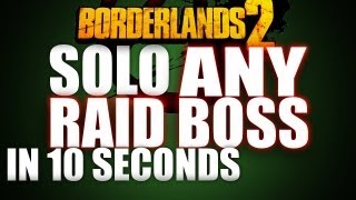 getlinkyoutube.com-Solo ANY Raid Boss In 10 Seconds or Less! Evil Smasher Glitch | Borderlands 2 Seraph/Loot Guide