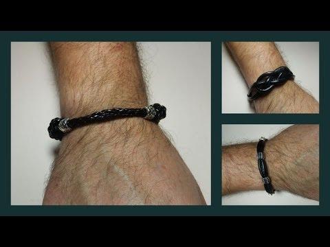 Tres modelos de pulseras de hombre
