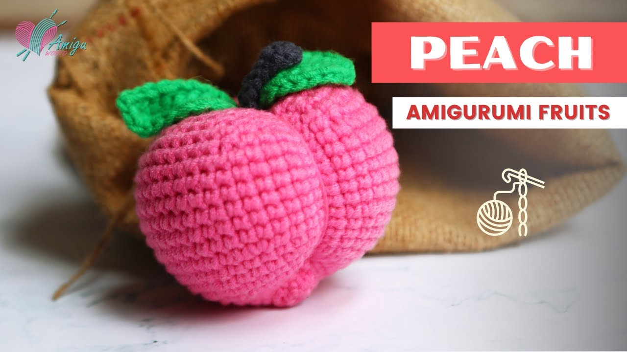 FREE Pattern – How to crochet a PEACH amigurumi pattern