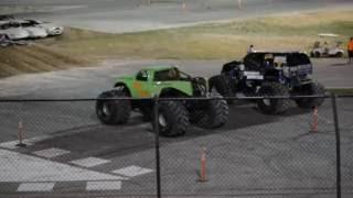 Monster Truck racing final from Rocky mountain Raceway 8/14/2016