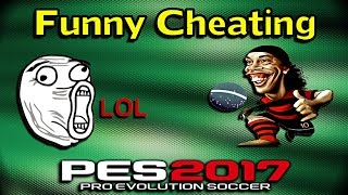 getlinkyoutube.com-[PES 2017] Online Funny Cheat | WTF ?? xD