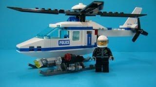 getlinkyoutube.com-Lego City (레고) Police Helicopter 7741 Build Review