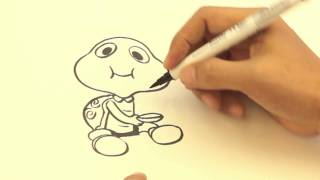 getlinkyoutube.com-S-26 สอนวาดรูป น้องเต่าอมข้าว