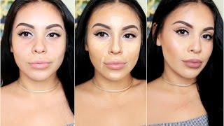 getlinkyoutube.com-How To DRUGSTORE Contour & Highlight Using Affordable Makeup Brushes | juicyyyyjas