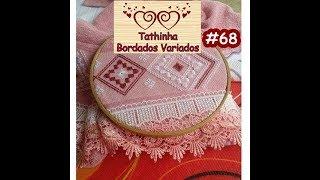 getlinkyoutube.com-Tathinha Bordados #68 - PONTO RETO DUPLO OU PONTO INCLINADO