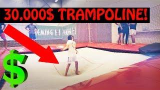 getlinkyoutube.com-Most Expensive Trampolines [CRAZY TRICKS]
