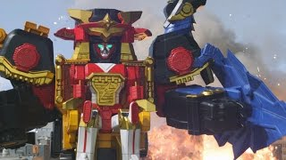 Power Rangers Ninja Steel - All Megazord Fights (Episodes 2-8)