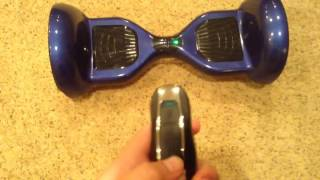How to use the Hoverboard remote