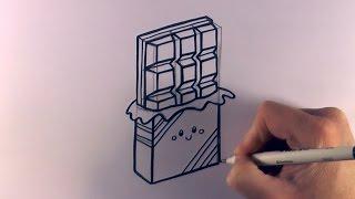 getlinkyoutube.com-How to Draw a Cartoon Chocolate Bar