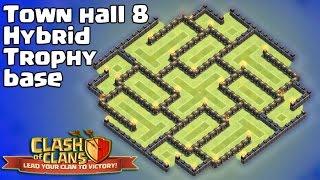 getlinkyoutube.com-Clash of clans - Town hall 8 (Th8) Hybrid Base 2015