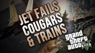 getlinkyoutube.com-Jet Fails, Cougar Attacks, & Train Shenanigans! (GTA V)