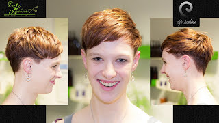 getlinkyoutube.com-long curly hair to short pixie haircut | extreme makeover 2016 by jacky @ die haarschneiderei