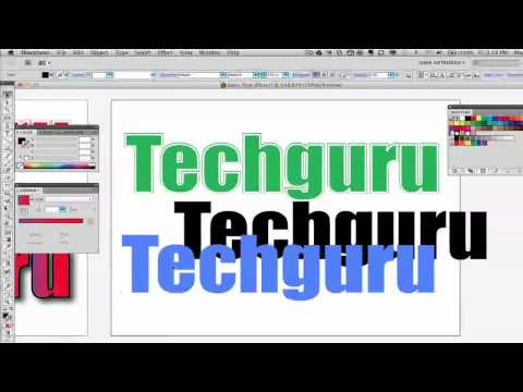 Adobe Illustrator For Beginners - Basic Text Effects