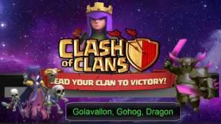 getlinkyoutube.com-Clash of Clans - Come attaccare th10 e th9 , strategie con golem