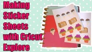 getlinkyoutube.com-Creating Sticker Sheets with Cricut Explore