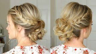 getlinkyoutube.com-Lace Braid Homecoming Updo | Missy Sue