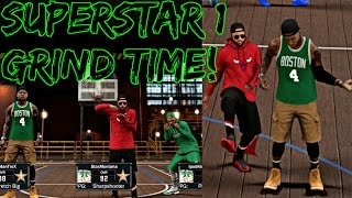 NBA 2K17 MyPark - TIME TO GRIND FOR SUPERSTAR 1!   GREENS LIGHTS DROPPING WITH JUICEMAN AND iPOD