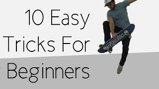 getlinkyoutube.com-10 Easy Beginner Skateboard Tricks