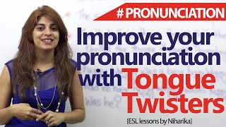getlinkyoutube.com-Tongue Twisters to improve your English pronunciations ( Free English Lessons)