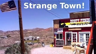 getlinkyoutube.com-Semi Abandoned Town In Nevada Desert - Creepy Buildings, Abandoned Cars & More