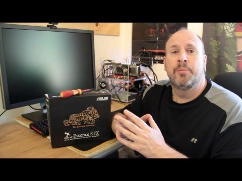 ASUS XONAR Essence STX 124 dB SNR/Headphone Amp Card Unboxing