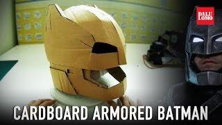 getlinkyoutube.com-#115.1: Armored Batman Mech Suit Helmet Pt.1 - Cardboard (free PDF) Costume How To | Dali DIY