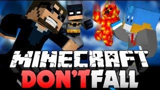 getlinkyoutube.com-Minecraft DON'T FALL!! I FREAKIN' FELL!! (Ryan, Husky, and Preston)