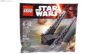 getlinkyoutube.com-LEGO Star Wars Kylo Ren's Command Shuttle promo polybag! 30279