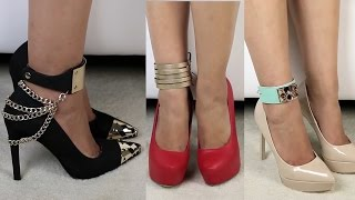 getlinkyoutube.com-DIY Shoe Accessories & DIY Anklets !