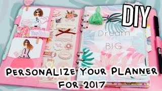 getlinkyoutube.com-DIY PLANNER Supplies For The NEW YEAR 2017! FREE stickers, Cover, Dividers, Dashbobard & more!