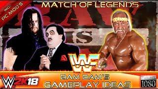 WWE 2K18 GAMEPLAY: The Undertaker (with Paul Bearer) VS. Hulk Hogan