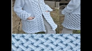 getlinkyoutube.com-knitting stitche    الضفيرة المتداخلة