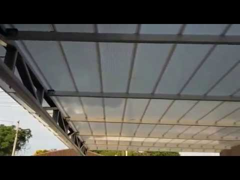 Cobertura Telhado de Policarbonato com Telha Click cor pérola Refletiva  8 metros