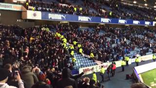 Hearts and Rangers fans after the game 16.01.2015