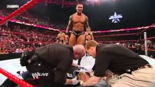 getlinkyoutube.com-Wwe randy Orton RKOs Triple H's wife