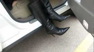 out of car in my 9 west boots