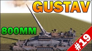 getlinkyoutube.com-800MM SCHWERER GUSTAV RAILWAY GUN vs DEFENSE - Men of War Assault Squad 2 - Mini Scenario #19
