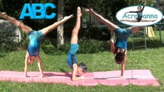 getlinkyoutube.com-Alphabet Gymnastics | Annie the Gymnast | Acroanna