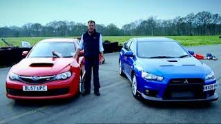 getlinkyoutube.com-Mitsubishi Evo vs. Subaru Impreza (HQ) - Top Gear - BBC