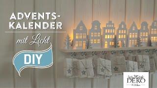 getlinkyoutube.com-DIY: Adventskalender basteln mit beleuchteten Häuschen - How-to | Deko Kitchen