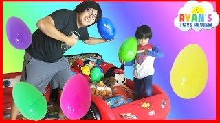 getlinkyoutube.com-EASTER EGGS Surprise Toys Challenge Disney Cars Toys Paw Patrol Batman Superman Thomas and Friends