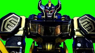 Mighty Morphin Power Rangers Limited Black Edition Legacy Megazord With Stop Motion