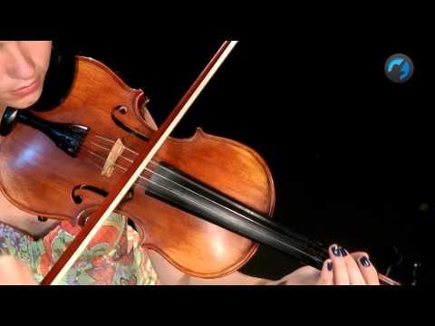 Afina��o e Arcada em G duas oitavas - ( aula de violino)