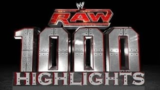 getlinkyoutube.com-WWE RAW 1000 Highlights + RAW 1000 Intro