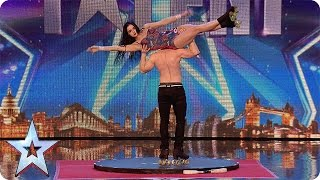 getlinkyoutube.com-Roller skaters Billy and Emily are wheelie good! | Audition Week 1 | Britain's Got Talent 2015