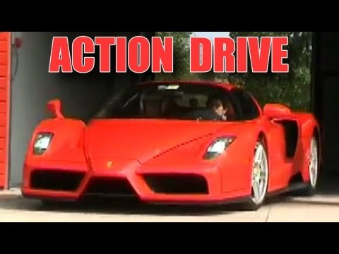 Ferrari Enzo in Action - Ride Rev Accelerations Drifts Burnout