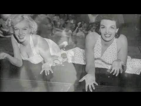Marilyn Monroe & Jane Russell cemented at the Grauman's Chinese Theatre
